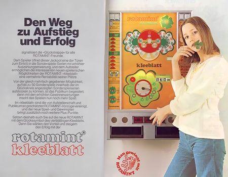 Der Weg zu Aufstieg und Erfolg -- Werbung für das NSM-Geldspielgerät Rotamint Kleeblatt