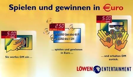Spielen und gewinnen in Euro -- Sie werfen DM ein, spielen und gewinnen in Euro und erhalten DM zurück. Löwen Entertainment