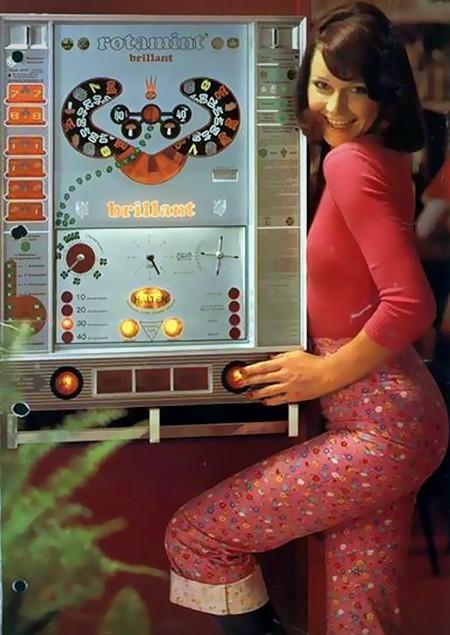 Werbung für das NSM-Geldspielgerät Brillant aus den Siebziger Jahren