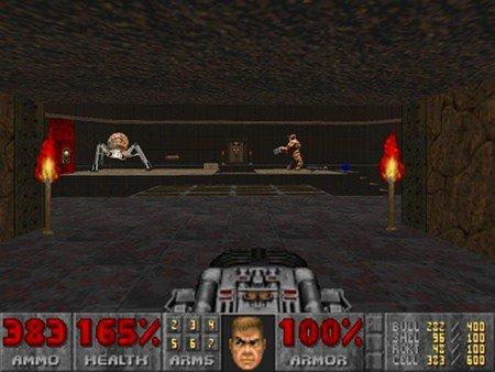 Die epische Kampfszene aus Gotcha! in Doom 2