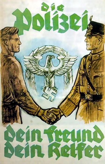 Die Polizei: Dein Freund, dein Helfer -- Plakat aus der Zeit der nationalsozialistischen Diktatur