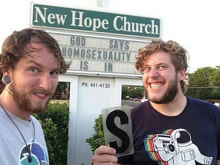 New Hope Church -- God say, homosexuality is (s)in