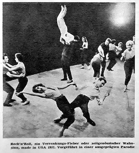Rock'n'Roll, ein Verrenkungsfieber oder zeitgenössischer Wahnsinn, made in USA 1957. Vorgeführt in einer ausgeprägten Parodie