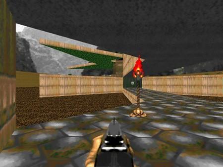 Kryptischer Screenshot aus Ultimate Doom, den Doom-Spieler unmittelbar verstehen sollten