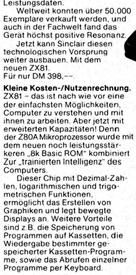 Werbung für den ZX-81, keine Lust, das alles abzutippen...