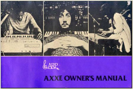 ARP AXXE OWNER'S MANUAL
