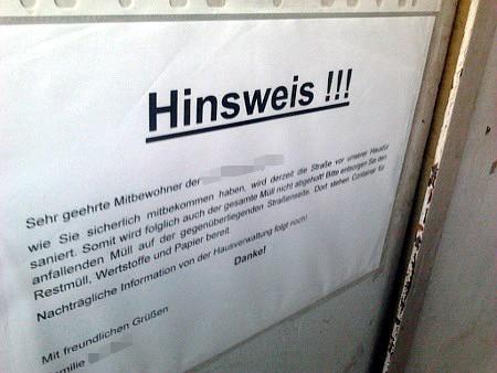 Hinsweis!