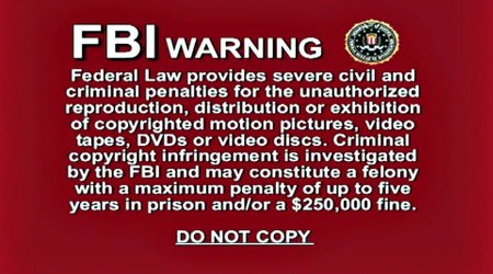 FBI WARNING -- Federal Law provides severe civil and criminal penalties for the unauthorized reprodution, distribution or exhibition of copyrighted motion pictures, video tapes, DVDs or video discs. Criminal copyright infringment is investigated by the FBI and may constitute a felony with a maximum penalty of up to five years in prison and/or $250,000 fine. DO NOT COPY