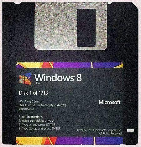 3-1/2-Zoll-Diskette 'Windows 8 Pro', Disk 1 von 1713