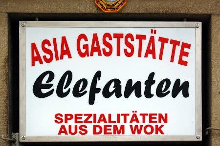 ASIA GASTSTÄTTE -- Elefanten -- SPEZIALITÄTEN AUS DEM WOK