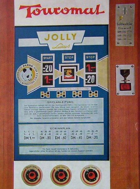 Geldspielgerät Touromat Jolly Luxus, Panda, 1967