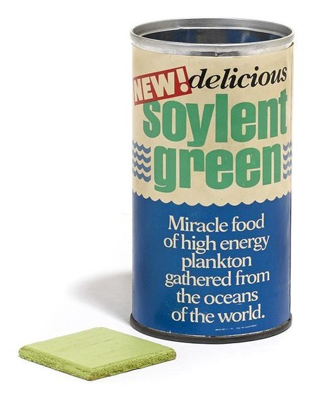 NEW! Delicious Soylent Green. Miracle food of high energy plankton gathered from the oceans of the world