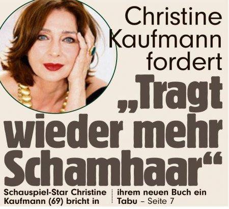 Christine Kaufmann fordert: Tragt wieder mehr Schamhaar