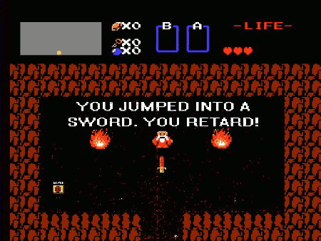 YOU JUMPED INTO A SWORD. YOU RETARD!