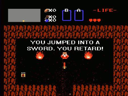 YOU JUMPED INTO A SWORD. YOU RETARD!