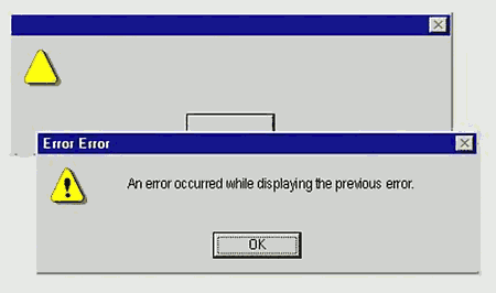 An error occured while displaying the previous error.