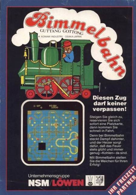 Bimmelbahn -- Diesen Zug darf keiner verpassen -- Steigen Sie gleich zu, reservieren Sie sich sofort eine Platzkarte, dann kommen sie schnell in Fahrt. Denn bei Bimmelbahn steckt Dampf dahinter, und der Heizer sorgt dafür, daß das Feuer stets glüht und immer genug 'Kohlen' da sind. Mit Bimmelbahn stellen Sie die Weichen für Ihren Erfolg! -- Unternehmensgruppe NSM/Löwen -- Ihr Freizeit Partner