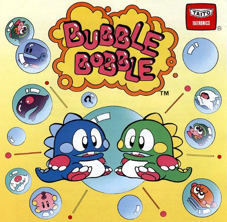 Werbung für Bubble Bobble von Taito aus dem Jahr 1986