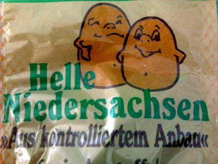 Helle Niedersachsen - Aus kontrolliertem Anbau (Angabe auf einem Beutel Kartoffeln)
