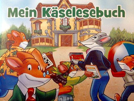 Foto eines Lesebuches für Kinder mit dem Titel 'Mein Käselesebuch'