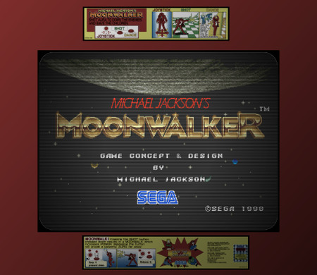 Screenshot vom Arcade-Spiel: Michael Jacksons Moonwalker, Sega 1990