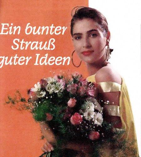 Detail einer Werbung aus den Achtziger Jahren: Ein bunter Strauß guter Ideen