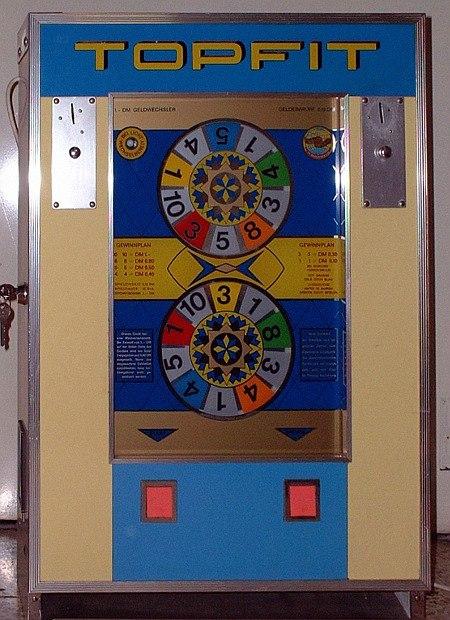 Das Bergmann-Geldspielgerät Topfit aus dem Jahr 1967