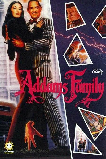 Ganzseitige Werbung für den Bally-Flipper 'Addams Family' aus dem Jahr 1992, von der Gauselmann-Spielhallenkette