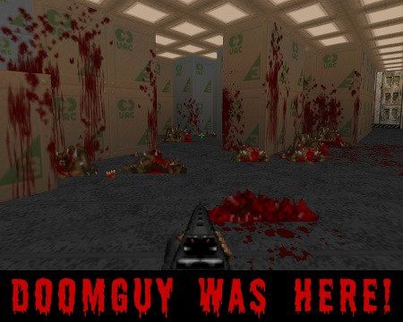 Doomguy was here!