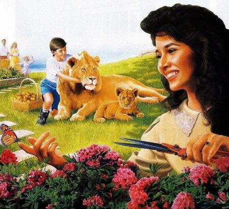 Detail aus dem Offenbarungs-Buch der Zeugen Jehovas