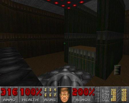 Der Weg zum Ausgang aus dem Doom-Level E1M4