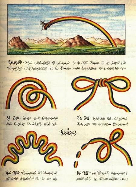 Seite aus dem Codex Seraphinianus von Luigi Sarafini