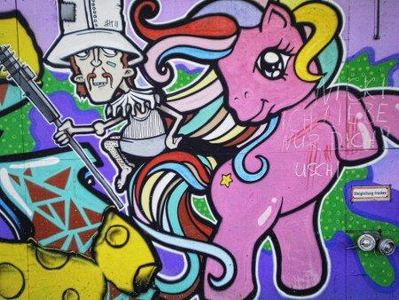 Ein kaum zu beschreibendes Graffito