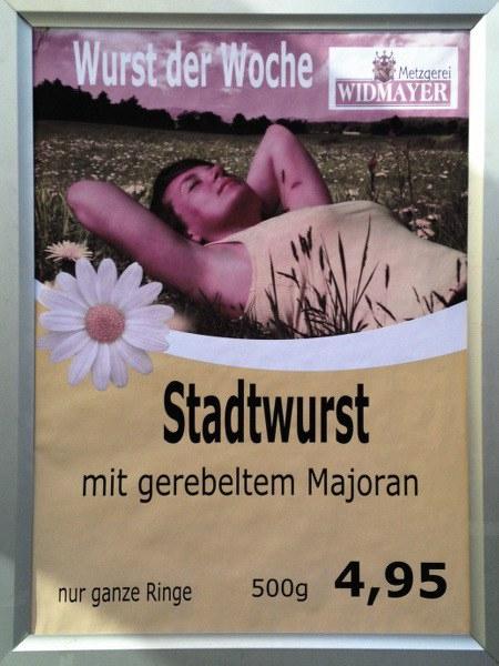 Wurst der Woche: Stadtwurst mit gerebeltem Majoran, nur ganze Ringe, 500g 4,95