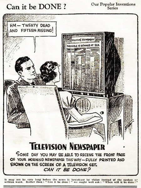 Some day you may be able to receive the front page of your morning newspaper this way -- fully printed and shown on the screen of a television set. Can it be done?