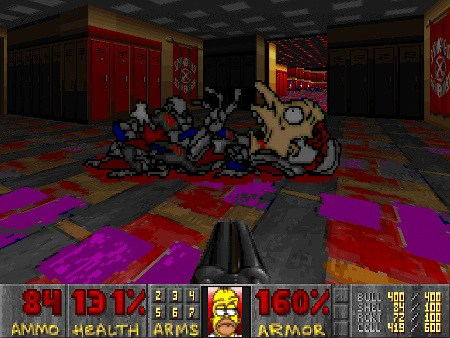 Screenshot aus Simpsons Doom