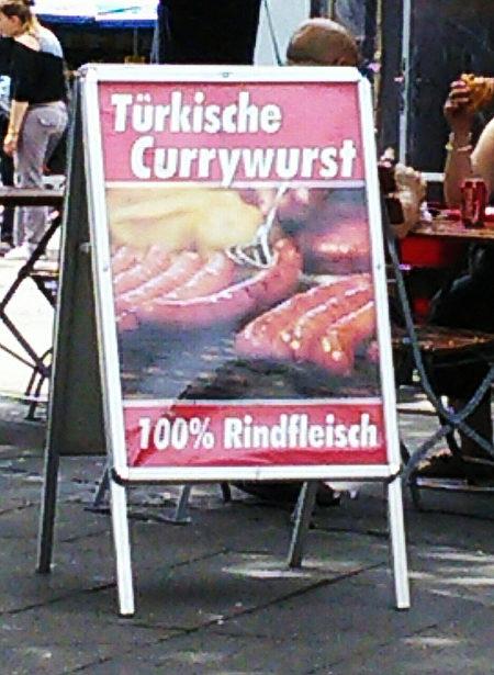 Türkische Currywurst -- 100% Rindfleisch