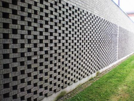 Eine gemauerte Wand in Hannover-Limmer