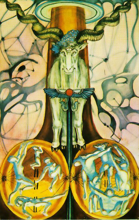 Der Teufel aus dem Tarot von Aleister Crowley