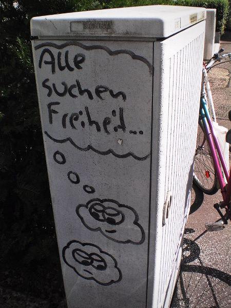 Graffito: Alle suchen Freiheit