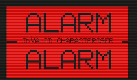 Alarm -- Invalid Characteriser