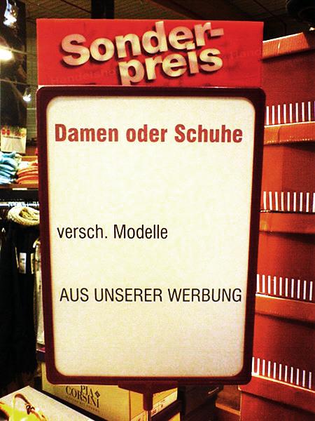 Sonderpreis -- Damen oder Schuhe -- versch. Modelle -- AUS UNSERER WERBUNG
