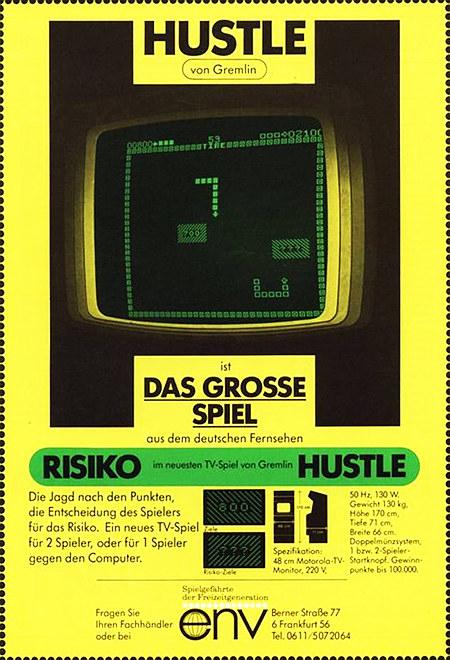 HUSTLE von Gremlin ist das GROSSE SPIEL aus dem deutschen Fernsehen... -- Werbung aus dem Jahr 1977