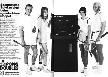 Werbung für Pong Doubles von Atari aus dem Jahr 1973