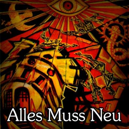 Der Turm aus dem Crowley-Tarot mit dem Text »Alles muss neu«.