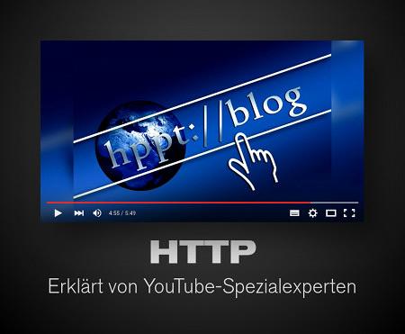 Screenshot des Youtube-Players. Gezeigt ist eine aufwändige grafische Repräsentation einer URL-Zeile eines Browsers, die versucht, künstlerisch zu sein. Die URL beginnt mit hppt://blog.