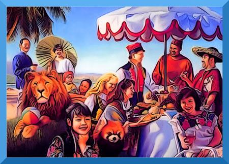 Illustration aus einem Wachtturm der Zeugen Jehovas