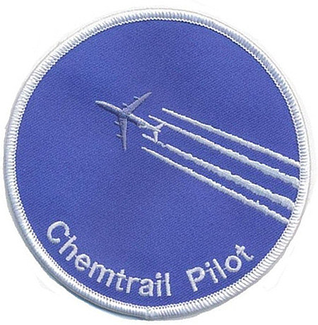 Aufnäher: Chemtrail Pilot