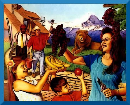 Klitschiges Idyll aus einem Wachtturm der Zeugen Jehovas