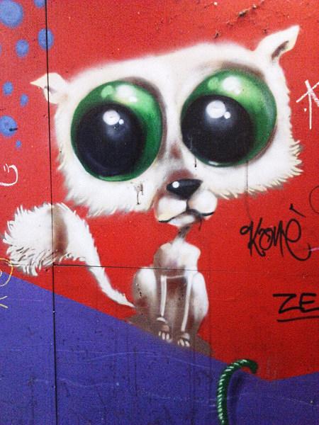 Graffito am Ihmezentrum in Linden bei Hannover